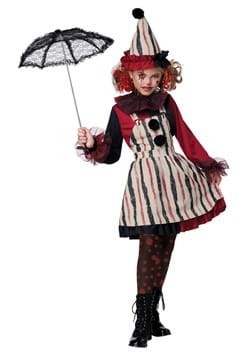 Girl's Clever Clown Child Costume