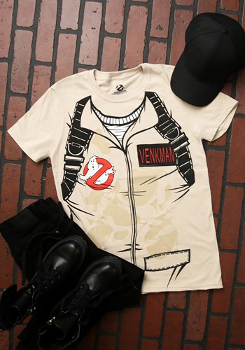 Image of Adult Venkman Ghostbusters T-Shirt Costume