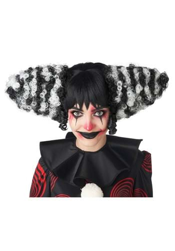 Funhouse Clown Black and White Wig