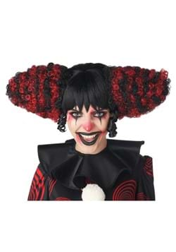 Funhouse Clown Black and Red Wig
