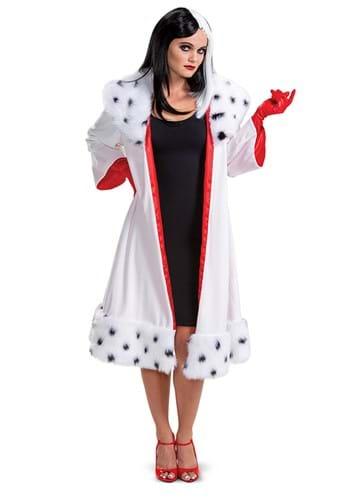 101 Dalmatians Animated Womens Cruella Jacket Deluxe Costume