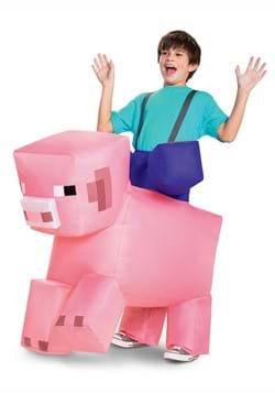 Minecraft Child Ride-On Inflatable Pig Costume DLC
