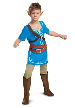 Link Breath of the Wild Classic Kids Costume upd