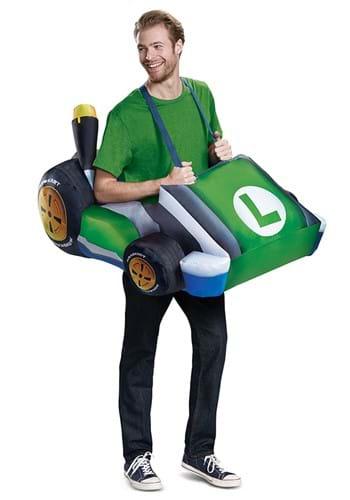 Adult Inflatable Luigi Cart Costume