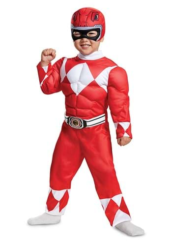 Infant/Toddler Power Rangers Red Ranger Muscle Costume