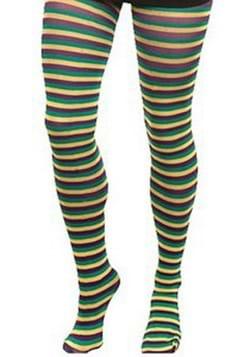 Adult Mardi Gras Striped Tights