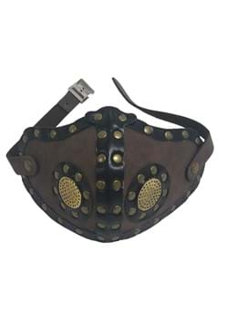Adult Vented Faux Leather Steampunk Mask with Studs