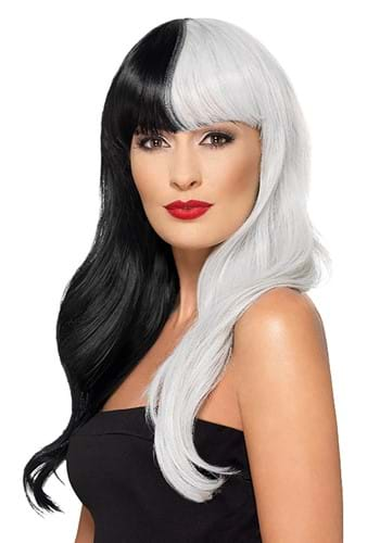 Deluxe Black and Grey Heat Stylable Wig