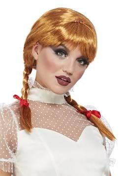Auburn Porcelain doll Wig
