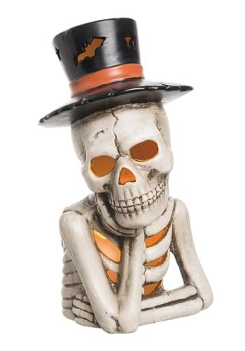11 Inch Light Up Top Hat Skeleton