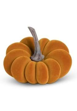 """5"""" Orange Velvet Pumpkin"""