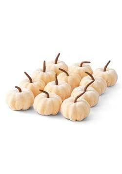"12 2"" Cream Velvet Pumpkins"