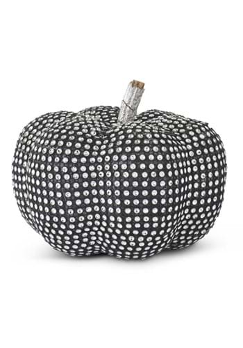 5 Black Pumpkin with Rhinestones