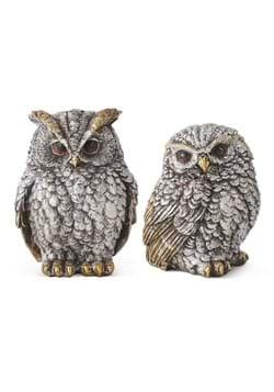 Set of Silver Gold Owls