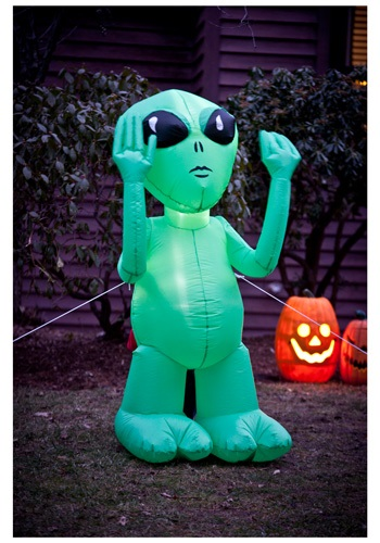 Alien Inflatable Lawn Decoration By: Morbid Enterprises for the 2015 Costume season.