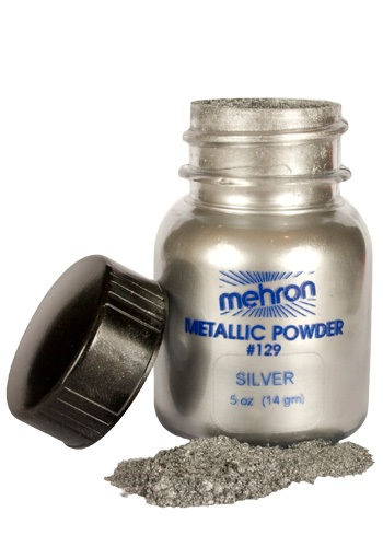 Silver Metallic Powder Makeup By: Mehron Inc for the 2015 Costume season.