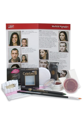 Click Here to buy Mehron Modern Vampire Makeup Kit from HalloweenCostumes, CDN Funds