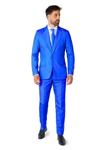 Suitmeister Mens Solid Blue Suit