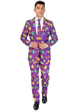 Suitmeister Mardi Gras Purple Icons Suit for Men