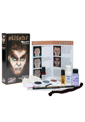 Click Here to buy Mehron Werewolf Makeup Kit from HalloweenCostumes, CDN Funds