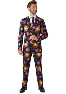 Suitmeister Fireworks Black Suit for Men