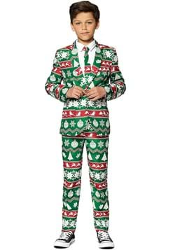 Suitmeister Boys Christmas Green Nordic Suit