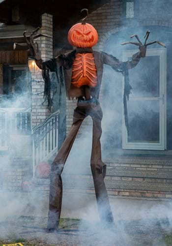 8ft Animated Giant Pumpkin Scarecrow Decoration upd