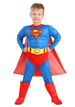 Classic Superman Deluxe Toddler Costume2
