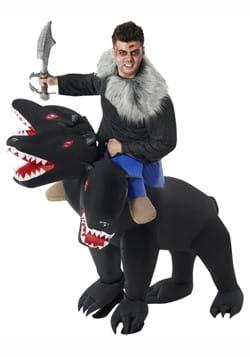 Evil 3 Headed Dog Ride On Inflatable Adult Costume