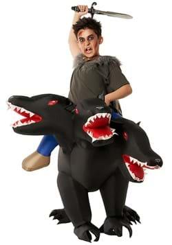 Evil 3 Headed Dog Ride On Inflatable Kids Costume