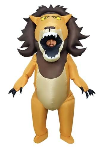 Adult Big Mouth Lion Inflatable Costume