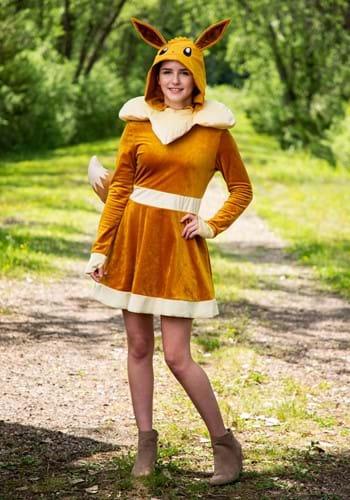 Pokemon Womens Eevee Dress Costume-2