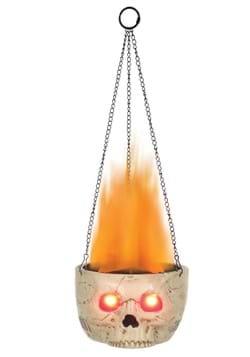 Flaming Skull Sconce Halloween Decoration