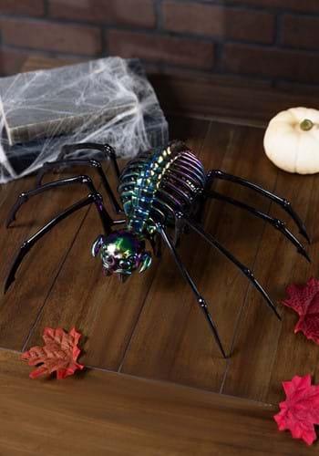 "13"" Oil Slick Skeleton Spider"