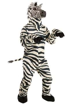 Adult Zebra Suit with Mouth Mover Mask