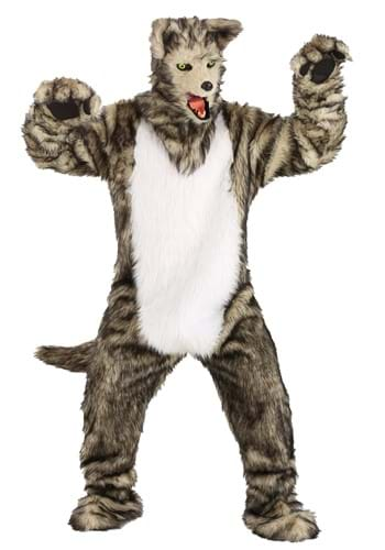 Adult Wolf Costume with Mouth Mover Mask