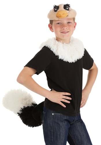 Ostrich Plush Headband Collar Tail Kit