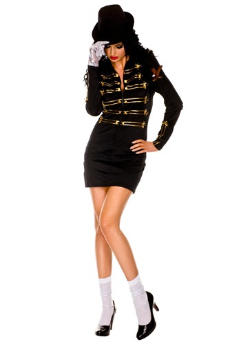 Click Here to buy Sexy One Glove Pop Star Costume from HalloweenCostumes, USA Funds & Shipping