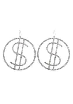 Rhinestone Dollar Sign Earrings