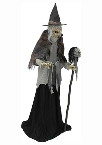 6ft Lunging Witch with DigitEye Animated Prop