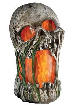 12 Flaming Rotted Skull Animated Prop