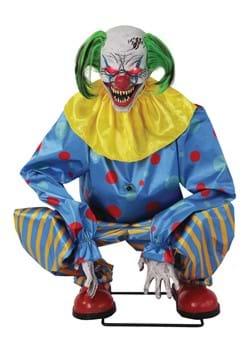 Animated Crouching Blue Clown