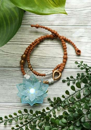 Raya and the Last Dragon Dragon Flower Light Up Necklace-upd