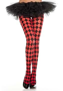 Red Diamond Jester Tights for Women