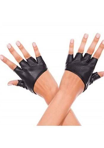 Fingerless Black Cropped Gloves