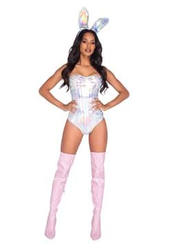 Women's Sexy Holographic Bunny Costume
