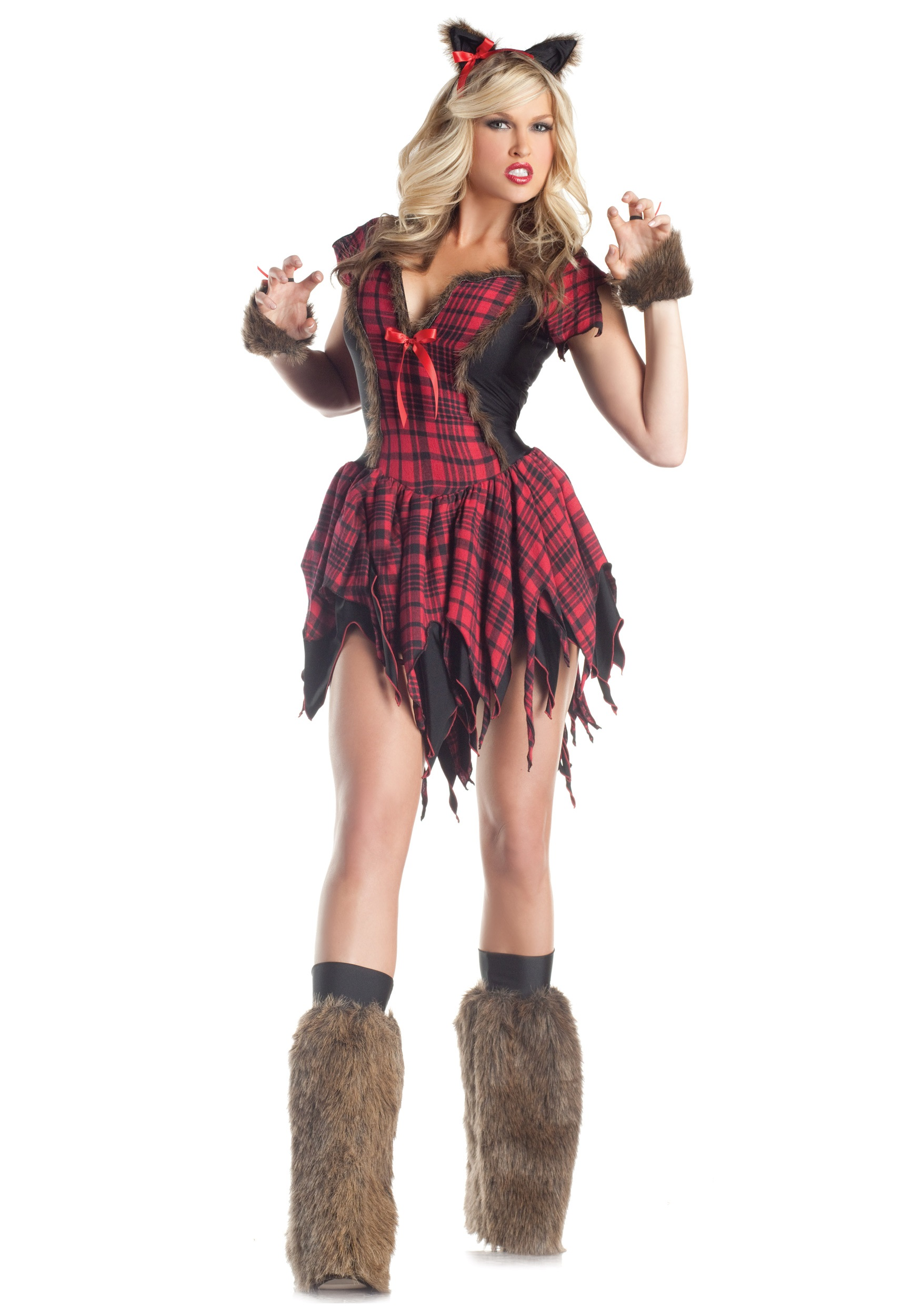 Girl teen halloween costume wolf