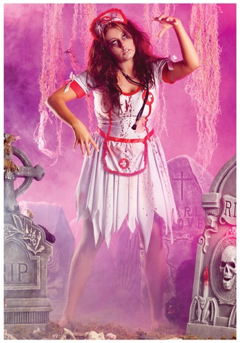 Click Here to buy Plus Zombie Nurse Costume from HalloweenCostumes, USA Funds & Shipping