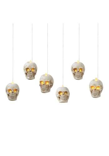 6 Lighted Hanging Skulls w Remote Control