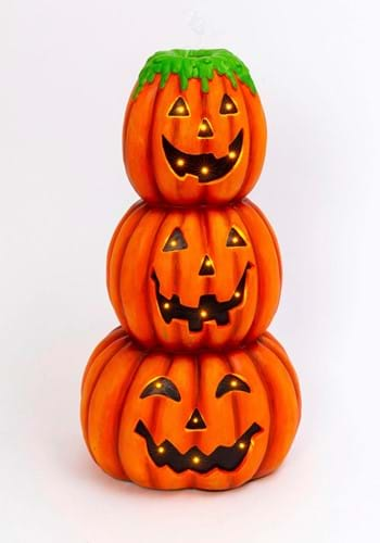 28 Electric Lighted Pumpkin Stack Floating Bubbles